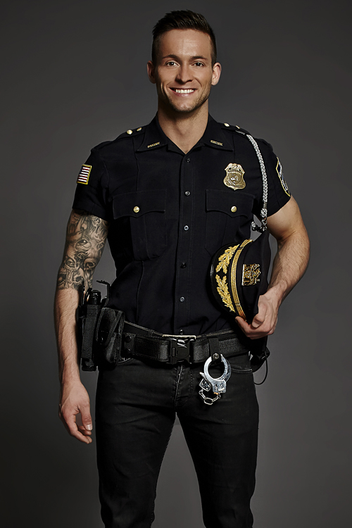 Cop stripper and police outdoor oficer of 8